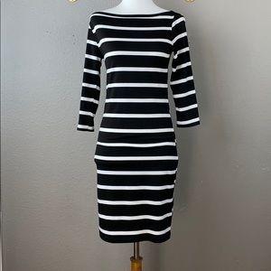 Lulu's Heir Lines Black Striped Dress
